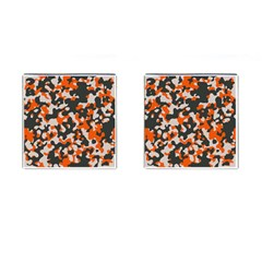 Camouflage Texture Patterns Cufflinks (square) by Simbadda