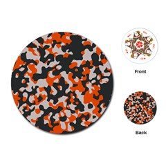 Camouflage Texture Patterns Playing Cards (round)  by Simbadda