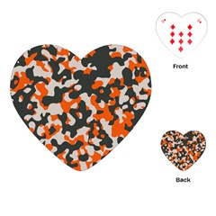 Camouflage Texture Patterns Playing Cards (heart)  by Simbadda
