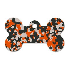 Camouflage Texture Patterns Dog Tag Bone (two Sides) by Simbadda