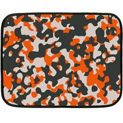Camouflage Texture Patterns Fleece Blanket (mini) by Simbadda