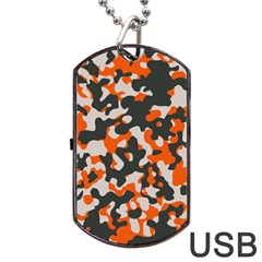 Camouflage Texture Patterns Dog Tag Usb Flash (two Sides) by Simbadda