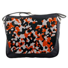 Camouflage Texture Patterns Messenger Bags by Simbadda