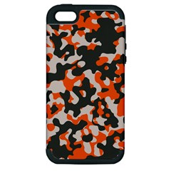 Camouflage Texture Patterns Apple Iphone 5 Hardshell Case (pc+silicone) by Simbadda