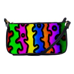 Digitally Created Abstract Squiggle Stripes Shoulder Clutch Bags by Simbadda