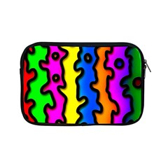 Digitally Created Abstract Squiggle Stripes Apple Ipad Mini Zipper Cases by Simbadda
