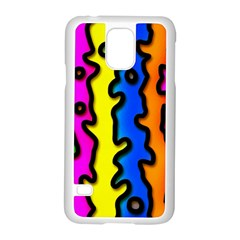 Digitally Created Abstract Squiggle Stripes Samsung Galaxy S5 Case (white) by Simbadda