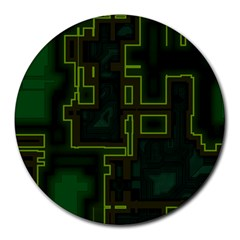 A Completely Seamless Background Design Circuit Board Round Mousepads by Simbadda