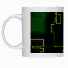 A Completely Seamless Background Design Circuit Board White Mugs by Simbadda