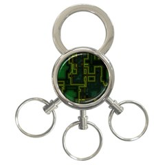 A Completely Seamless Background Design Circuit Board 3 Ring Key Chains by Simbadda