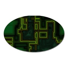 A Completely Seamless Background Design Circuit Board Oval Magnet by Simbadda