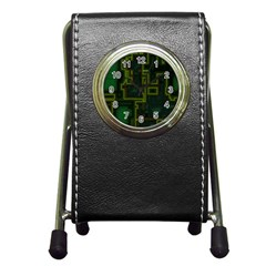 A Completely Seamless Background Design Circuit Board Pen Holder Desk Clocks by Simbadda