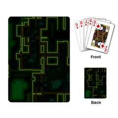 A Completely Seamless Background Design Circuit Board Playing Card by Simbadda