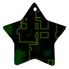 A Completely Seamless Background Design Circuit Board Star Ornament (two Sides) by Simbadda