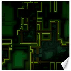 A Completely Seamless Background Design Circuit Board Canvas 16  X 16   by Simbadda