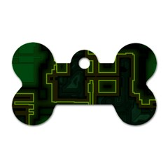 A Completely Seamless Background Design Circuit Board Dog Tag Bone (one Side) by Simbadda