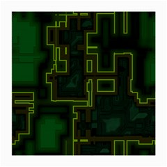 A Completely Seamless Background Design Circuit Board Medium Glasses Cloth (2 Side) by Simbadda