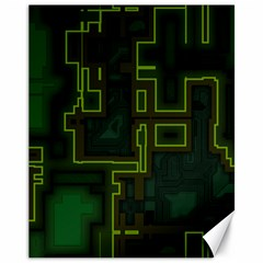 A Completely Seamless Background Design Circuit Board Canvas 11  X 14   by Simbadda