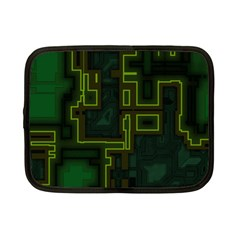 A Completely Seamless Background Design Circuit Board Netbook Case (small)  by Simbadda