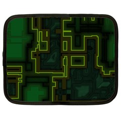 A Completely Seamless Background Design Circuit Board Netbook Case (large) by Simbadda