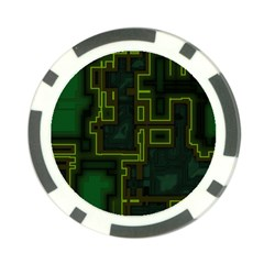 A Completely Seamless Background Design Circuit Board Poker Chip Card Guard (10 Pack) by Simbadda