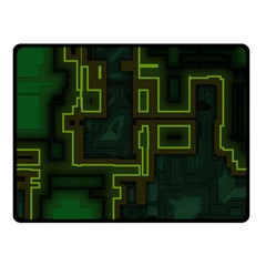A Completely Seamless Background Design Circuit Board Fleece Blanket (small) by Simbadda