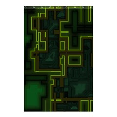 A Completely Seamless Background Design Circuit Board Shower Curtain 48  X 72  (small)  by Simbadda