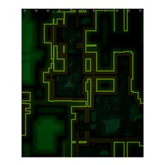 A Completely Seamless Background Design Circuit Board Shower Curtain 60  X 72  (medium)  by Simbadda