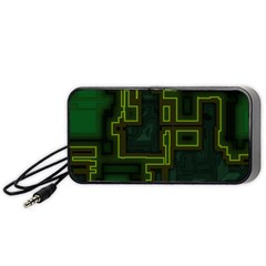 A Completely Seamless Background Design Circuit Board Portable Speaker (black) by Simbadda