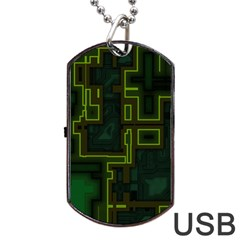 A Completely Seamless Background Design Circuit Board Dog Tag Usb Flash (one Side) by Simbadda