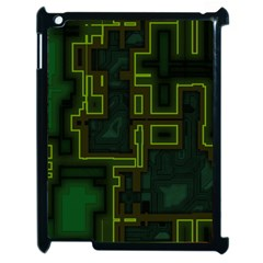 A Completely Seamless Background Design Circuit Board Apple Ipad 2 Case (black) by Simbadda