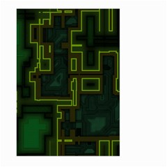 A Completely Seamless Background Design Circuit Board Large Garden Flag (two Sides) by Simbadda