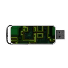 A Completely Seamless Background Design Circuit Board Portable Usb Flash (one Side) by Simbadda