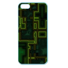 A Completely Seamless Background Design Circuit Board Apple Seamless Iphone 5 Case (color) by Simbadda