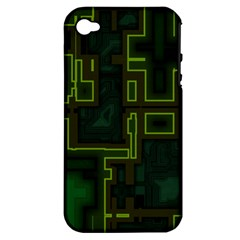 A Completely Seamless Background Design Circuit Board Apple Iphone 4/4s Hardshell Case (pc+silicone) by Simbadda