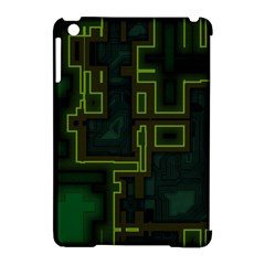A Completely Seamless Background Design Circuit Board Apple Ipad Mini Hardshell Case (compatible With Smart Cover) by Simbadda