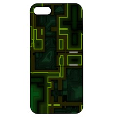A Completely Seamless Background Design Circuit Board Apple Iphone 5 Hardshell Case With Stand by Simbadda