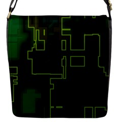 A Completely Seamless Background Design Circuit Board Flap Messenger Bag (s) by Simbadda