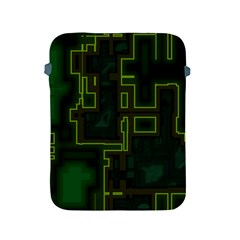 A Completely Seamless Background Design Circuit Board Apple Ipad 2/3/4 Protective Soft Cases by Simbadda