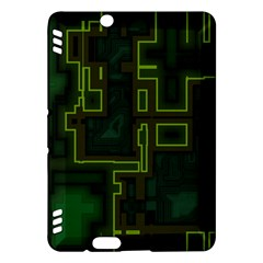 A Completely Seamless Background Design Circuit Board Kindle Fire Hdx Hardshell Case by Simbadda
