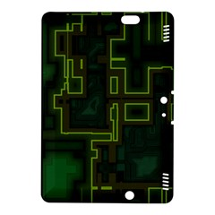 A Completely Seamless Background Design Circuit Board Kindle Fire Hdx 8 9  Hardshell Case by Simbadda