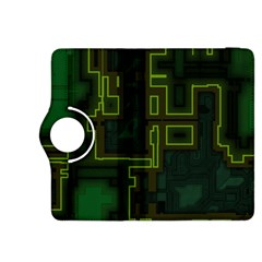 A Completely Seamless Background Design Circuit Board Kindle Fire Hdx 8 9  Flip 360 Case by Simbadda