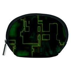 A Completely Seamless Background Design Circuit Board Accessory Pouches (medium)  by Simbadda