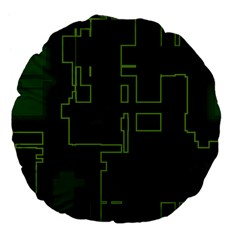 A Completely Seamless Background Design Circuit Board Large 18  Premium Flano Round Cushions by Simbadda