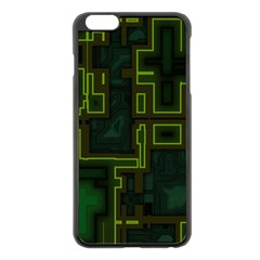A Completely Seamless Background Design Circuit Board Apple Iphone 6 Plus/6s Plus Black Enamel Case by Simbadda