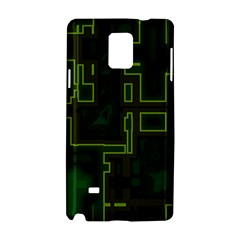 A Completely Seamless Background Design Circuit Board Samsung Galaxy Note 4 Hardshell Case by Simbadda