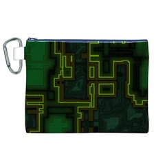 A Completely Seamless Background Design Circuit Board Canvas Cosmetic Bag (xl) by Simbadda