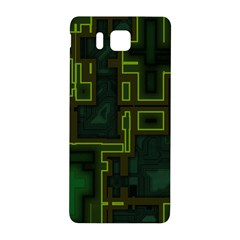 A Completely Seamless Background Design Circuit Board Samsung Galaxy Alpha Hardshell Back Case by Simbadda