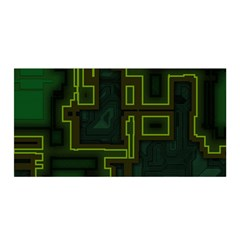 A Completely Seamless Background Design Circuit Board Satin Wrap by Simbadda