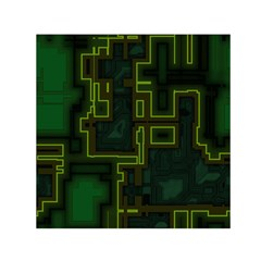 A Completely Seamless Background Design Circuit Board Small Satin Scarf (square) by Simbadda